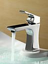 Sprinkle® par LightInTheBox - fini chrome en laiton Centerset mitigeur robinet évier salle de bains