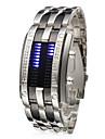 Men's Watch Faceless Watch Blue LED Digit Watch Calendar Steel Band Wrist Watch Cool Watch Unique Watch Fashion Watch
