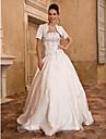 Lanting abito da ballo sposa petite / più dimensioni abito da sposa-pavimento-lunghezza senza spalline in raso / taffettà