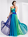TS Couture® Prom / Formal Evening / Military Ball Dress - Color Gradient Plus Size / Petite A-line Strapless / Sweetheart Floor-length Chiffon