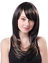 Capless long bruns ondulés synthétique de haute qualité japonais Kanekalon perruques