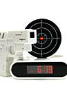 Réveil Numérique Style Cible avec Pistolet Laser (4xAA)