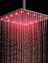 Chuveiro em Aço Inoxidável com LED Multi Cores (16 polegadas)