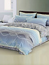 4PCS Wave Reactive Print Duvet Cover Set