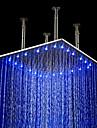 Contemporain Douche pluie Fileté Fonctionnalité for  LED / Effet pluie , Pomme de douche
