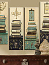toile tendue impression vintage books natures mortes jeu de 4 1301-0214
