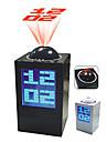 Desktop Digital Alarm Clock Calendar Thermometer Time Projector (Random Color, 3xAA)