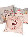 set de 3 joyeux noël série taie d'oreiller décoratif