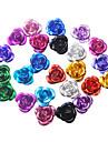36pcs Multi-couleur 3D métalliques Mini Fleurs mignons ongles Décorations