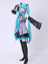Inspired by Vocaloid Hatsune Miku Video Game Cosplay Costumes Without Wig  Cosplay Suits Dresses Patchwork SleevelessBlouse Skirt Tie Sleeves Belt