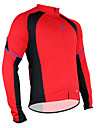 SANTIC Maillot de Cyclisme Homme Manches longues Vélo Maillot Hauts/TopsGarder au chaud Séchage rapide Perméabilité à l'humidité