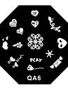 4pcs Nail Art Stamping dentelle timbre gracieux Plaques modèle d'image