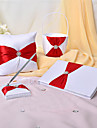 4 Collection Set Red Guest Book / Pen Set / Ring Pillow / Flower Basket