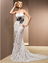 Lan Ting Trumpet/Mermaid Plus Sizes Wedding Dress - Ivory Court Train Sweetheart Lace/Satin/Tulle
