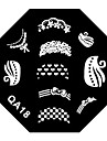 4ST Nail Art tecknad Stamp Stamping Plattor Avbildar mallen