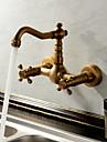 Sprinkle®-kökskranar  ,  Antik / Traditionell  with  Antik mässing Två handtag Två hål  ,  Särdrag  for Vattenfall
