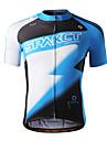SPAKCT 100% Polyester Kortärmad andas / snabbtorkande Män Cykling Jersey S13C04 (Blå)