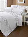 Simple&Opulence® 3-Piece 300TC Diamond Embroidery Cotton Duvet Cover Set