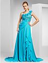 A-line prințesă o rochie de seară tren șifon de șold cu șmirghel de ts couture®