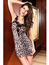 Club Donna Abito stile Leopard Lace (Lunghezza: 68cm Busto :86-102cm Vita :58-79 Anca :90-105cm)