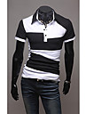 Men's Polo T-Shirt with Color Block
