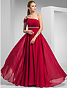 TS Couture® Prom / Formal Evening / Military Ball Dress - Elegant Plus Size / Petite Sheath / Column One Shoulder Sweep / Brush Train Chiffon