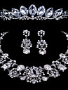 Elegant Alloy With Rhinestone Women's Jewelry Set Including Necklace,Earrings,Tiara