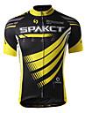 SPAKCT® Cykeltröja Herr Kort ärm Cykel Andningsfunktion / Snabb tork / Fuktgenomtränglighet Tröja / Överdelar 100% Polyester StribetVår /