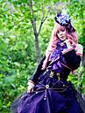 Inspirerad av Vocaloid Megurine Luka Video Spel Cosplay Kostymer/Dräkter cosplay Suits Lappverk Lila Topp