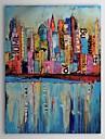 HANDMÅLAD Abstrakt / Landskap / Abstrakta landskap En panel Kanvas Hang målad oljemålning For Hem-dekoration