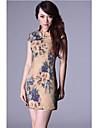 high end print floral rochie chinez femei