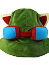 Chapeau/Casquette Inspiré par LOL Teemo Anime/Jeux Vidéo Accessoires de Cosplay Mancherons / Chapeau Vert Polaire Masculin