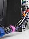 10st kabel tråd arrangör rull wrap sladd linje plug hörlurar spole strappers Clip Holder