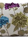 Polyester Housse de coussin , Floral Rustique