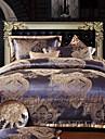 4-piece Rom stil jacquard polyester påslakan set