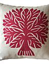 Classique Arbre Rouge Coton / Lin Coussin décoratif