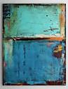 Peint à la main Abstrait Verticale,Classique Moderne Un Panneau Peinture à l'huile Hang-peint For Décoration d'intérieur