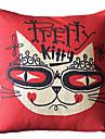 Moderne Kitty Coton / Lin Coussin décoratif