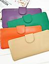 Portefeuille Blanc / Noir / Bleu / Rose / Vert / Violet / Rouge / Jaune / Orange / Beige - Polyuréthane - Unisexe
