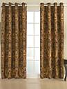 två paneler rokoko paisley röda sovrum bomull panelgardiner draperier