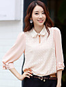 Kvinders Lace Elbow Bow Décor bluse shirt