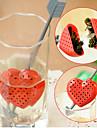 Röd hjärta Design Tea Spoon sil