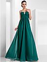 A-line printesa spaghete curele de podea lungime sifon rochie de seara cu draping de ts couture®