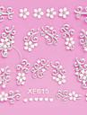 5PCS 3D White Lace ongles autocollants de mariage n ° 4 (couleurs assorties)