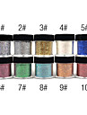 1PCS colorées brillaient Décorations ongles en poudre (couleurs assorties)