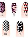 yemannvyou®28pcs full 3d dessin animé couverture autocollants pour les ongles série S10 n ° 2 (couleurs assorties)
