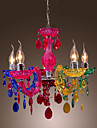 40 Ljuskronor ,  Traditionell/Klassisk Krom Särdrag for Kristall Akryl Vardagsrum Sovrum Dining Room