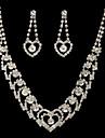 minunat cehă pietre aliaj placat cu nunta mireasa set de bijuterii, inclusiv colier și cercei