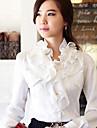 tricou cu guler ciufulit femei