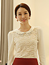 Women's Beaded Collar Lace Blouse Shirt